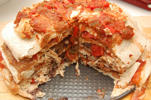 7 Layer Tortilla Pie