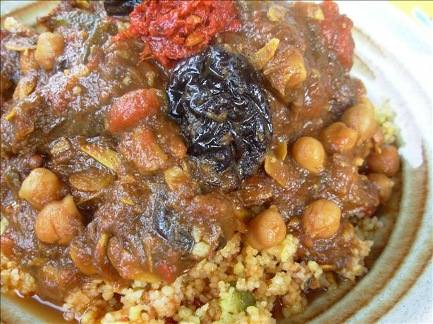 Algerian Stew With White Beans - Barboucha