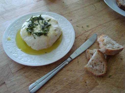 Almond 'feta Cheese' Spread With Herb Oil (Vegan)