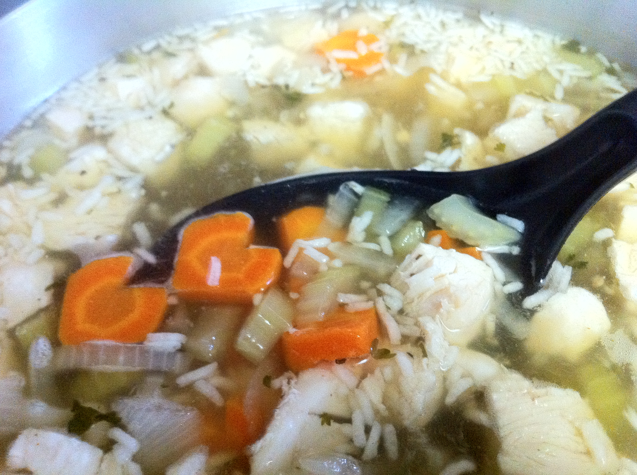 Almost Instant Chicken and Rice Soup