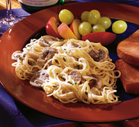 Angel Hair Pasta with Creamy Mushroom Sauce