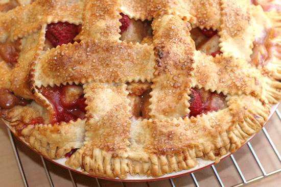 Apple, Almond and Raspberry Pie