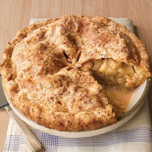 Apple Cheddar Pie With Sweet Potato Crust