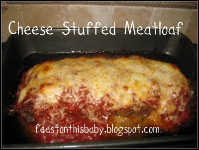 Aromatic and Cheese Stuffed Meat Loaf