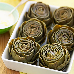 Artichokes with Lemon-Mustard Mayo