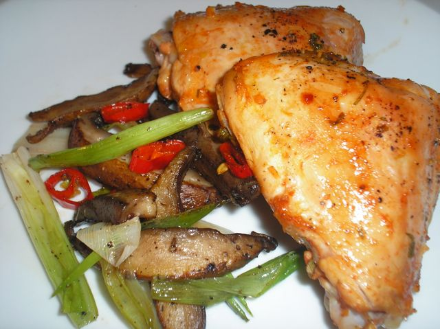 Asian Citrus Roasted Chicken and Veggies - Recipegreat.com