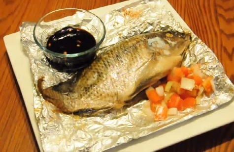Asian Tilapia in Foil