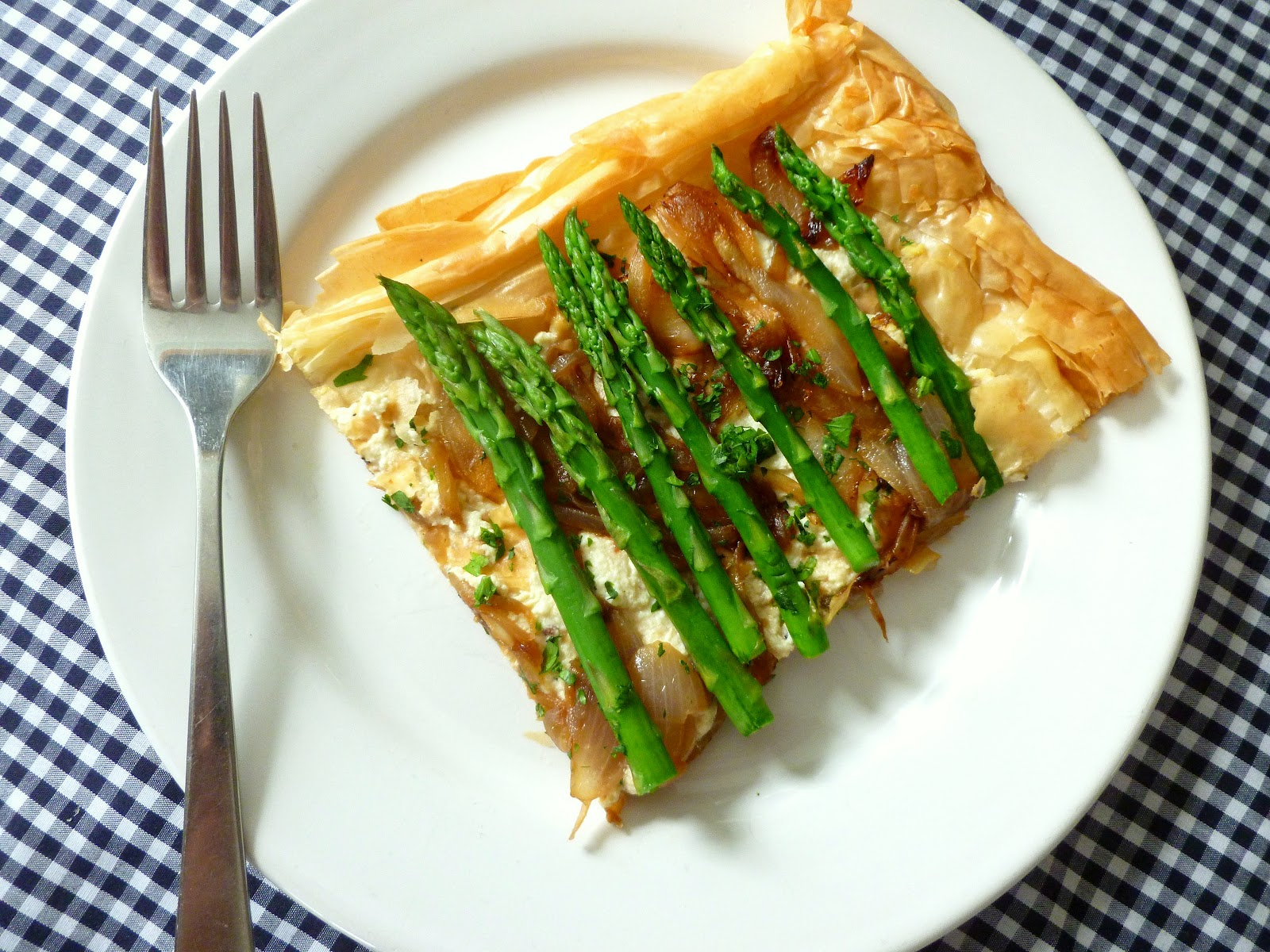 Asparagus & Ricotta Strudel (Vegetarian or Not Your Choice.)