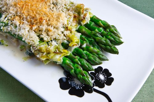 Asparagus With Gorgonzola Sauce