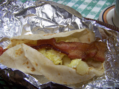Bacon and Egg Tacos