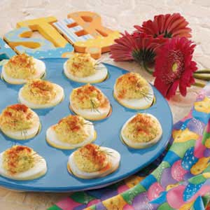 Bacon and Horseradish Deviled Eggs