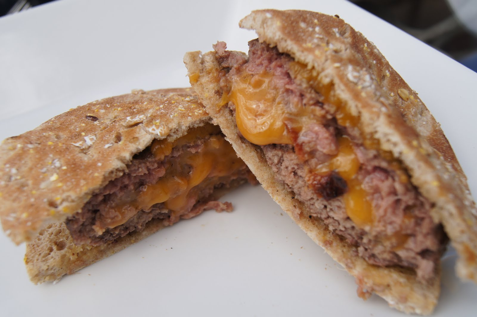 Bacon Cheddar Stuffed Burgers