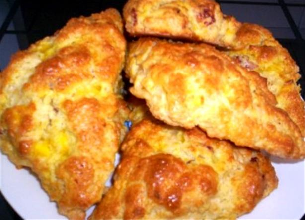 Bacon, Egg and Cheddar Scones