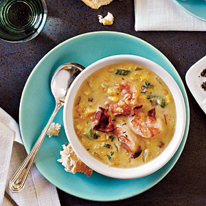 Bacon, Shrimp, and Corn Chowder
