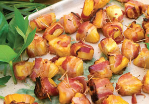 Bacon-Wrapped Pineapple Shrimp