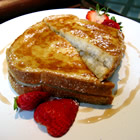Baked Banana Stuffed French Toast