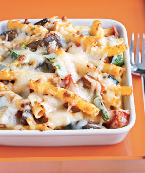 Baked Cheesy Veggie Chicken Pasta