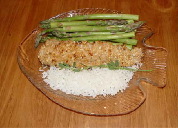 Baked Croaker with Cracked Peanuts