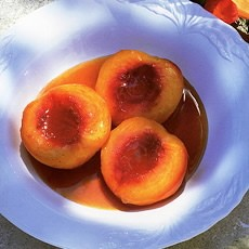 Baked Marsala Peaches