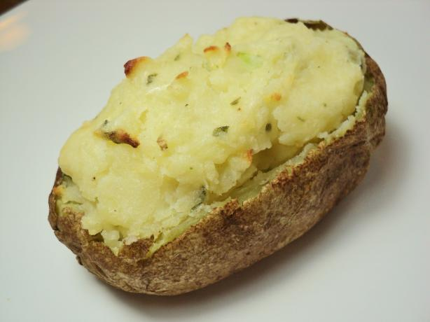 Baked Potatoes Stuffed With Brie