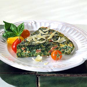 Baked Spinach-Ham Frittata