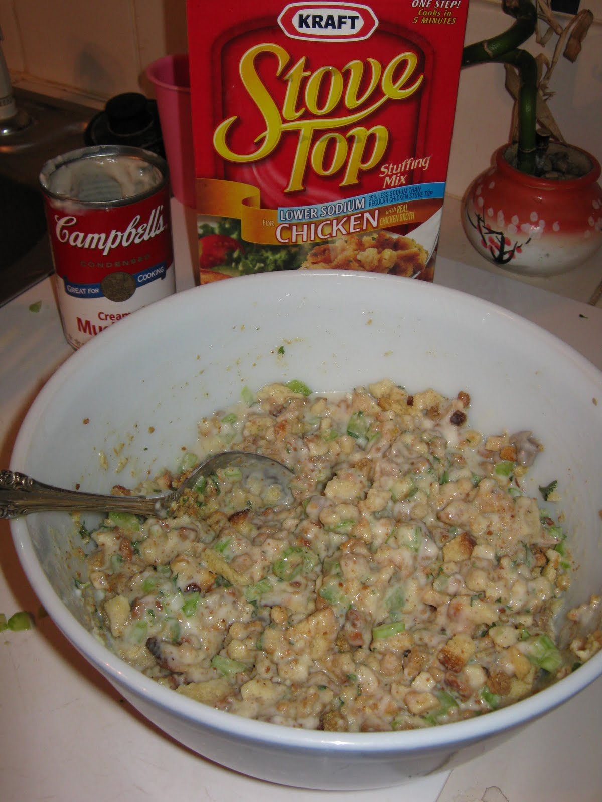 Baked Swiss Chicken and Stuffing