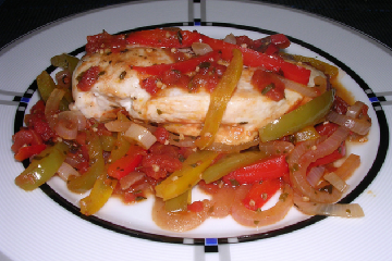 Easy Chicken And Balsamic Peppers Recipe — Dishmaps