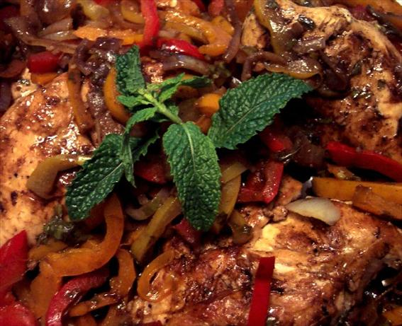 Balsamic Chicken Breasts With Peppers and Onions