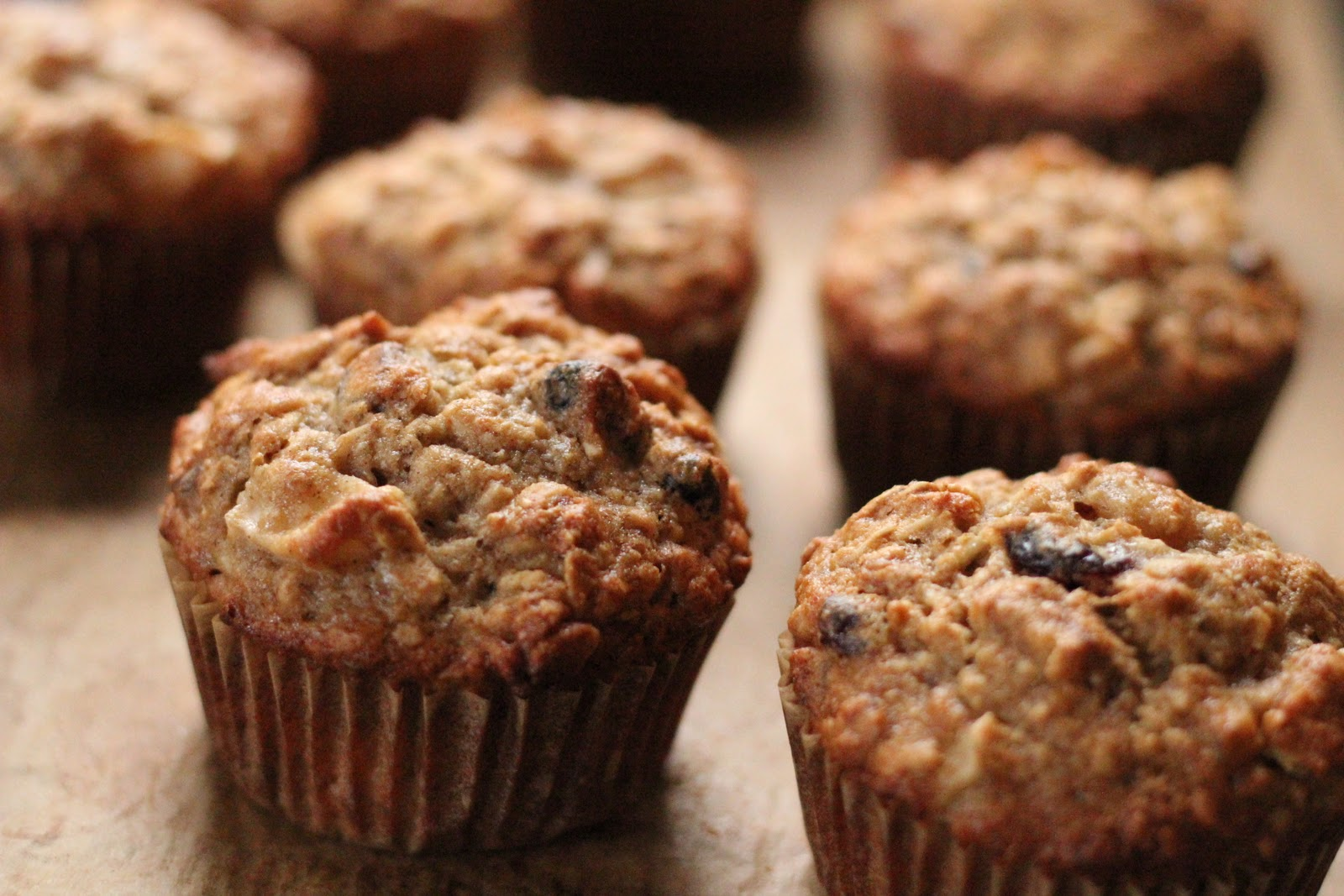 Banana & Apple Oatmeal Muffins