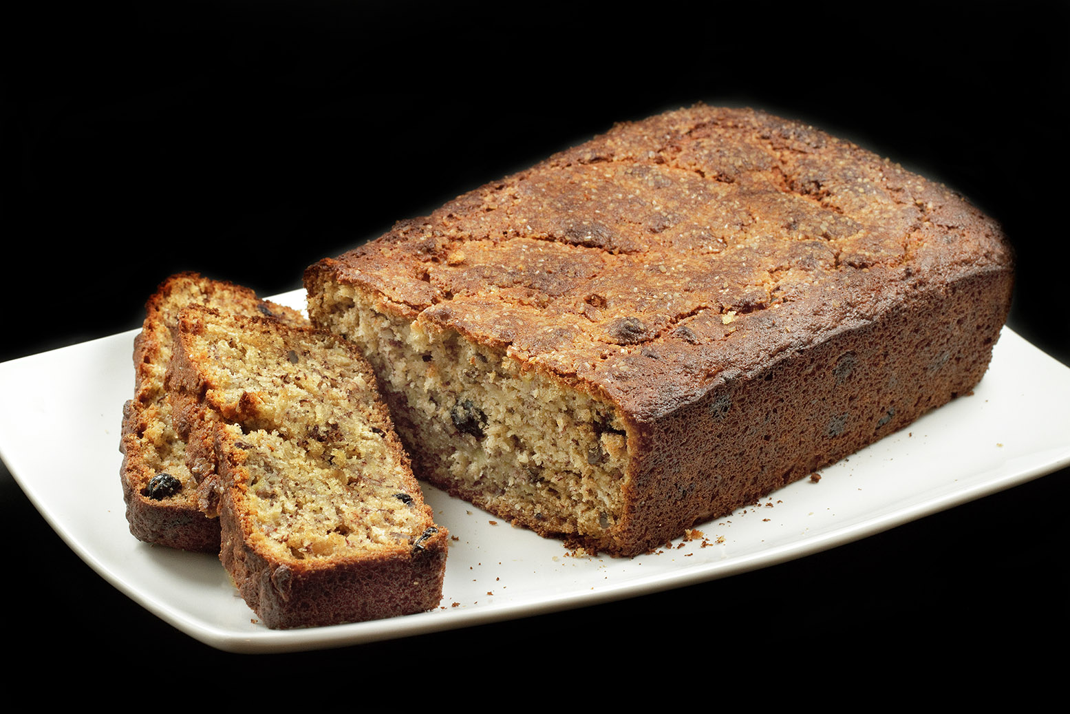 Banana Blueberry Oatmeal Bread