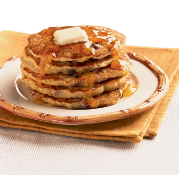 Banana Raisin and Oatmeal Pancakes