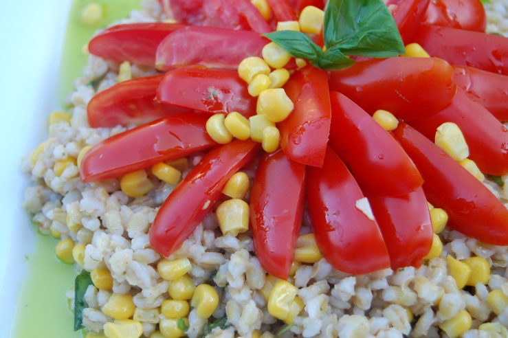 Barley Salad With Tomatoes and Corn
