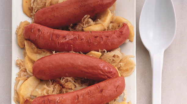 Bavarian Sausage-And-Kraut Supper