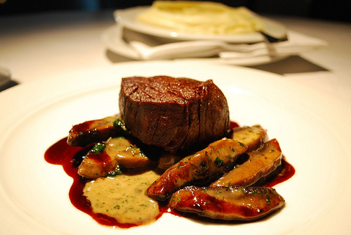 Beef Tenderloin Steak With Mushrooms and Madeira