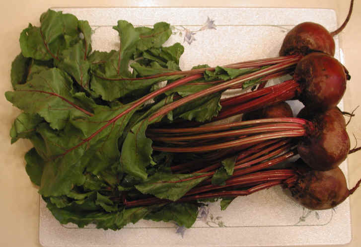 Beet Greens with Beets