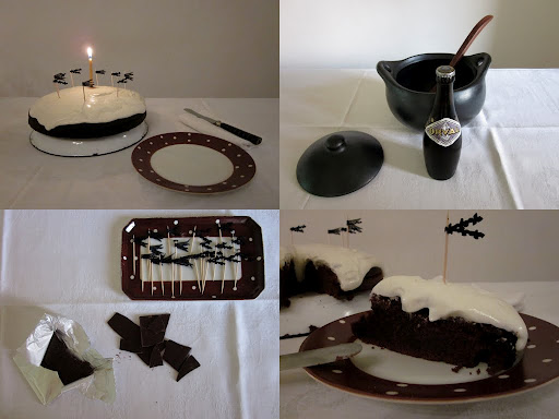 Black Out Cake from the Fifties