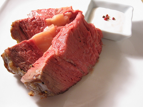 Blowtorch Prime Rib Roast With Horseradish Cream