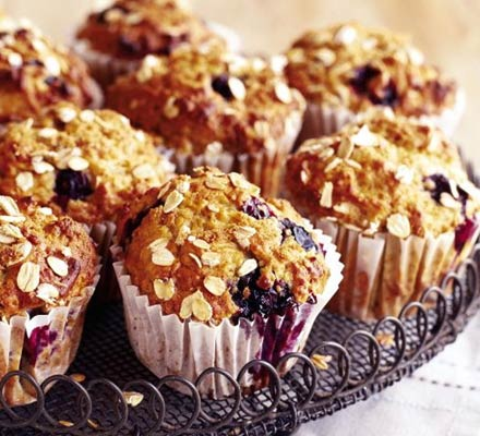 Blueberry-Banana Muffins