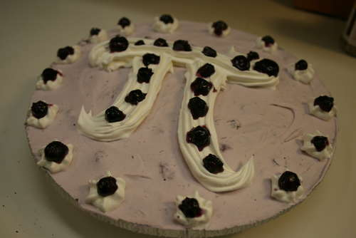 Blueberry Frozen Yogurt Pie