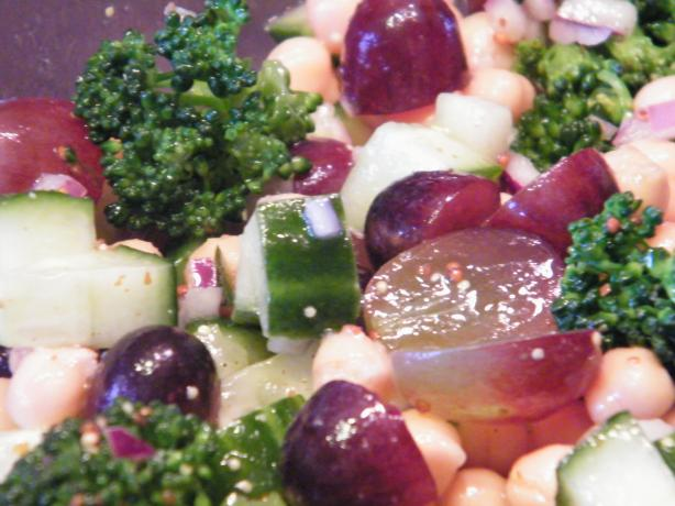 Broccoli, Grape and Chickpea Salad