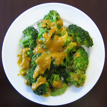 Broccoli With Red Lentil Sauce (Eat for Health)