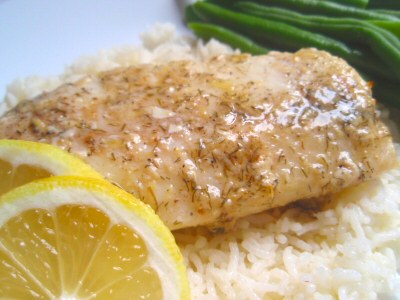 Broiled Scrod with Lemon Butter