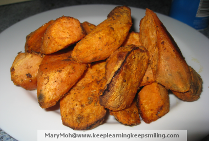 Cajun Baked Sweet Potato