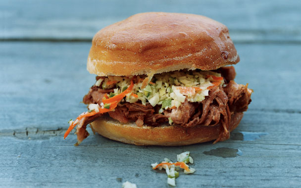 Carolina Pulled Pork Cocktail Sandwiches