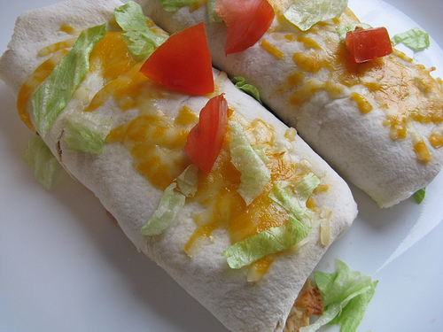 Cheese and Bean Burritos