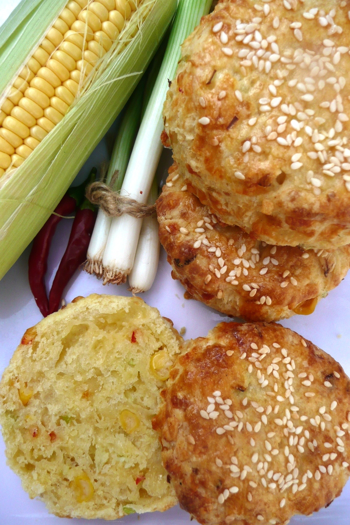 Cheese Scones (With Sesame Seeds)
