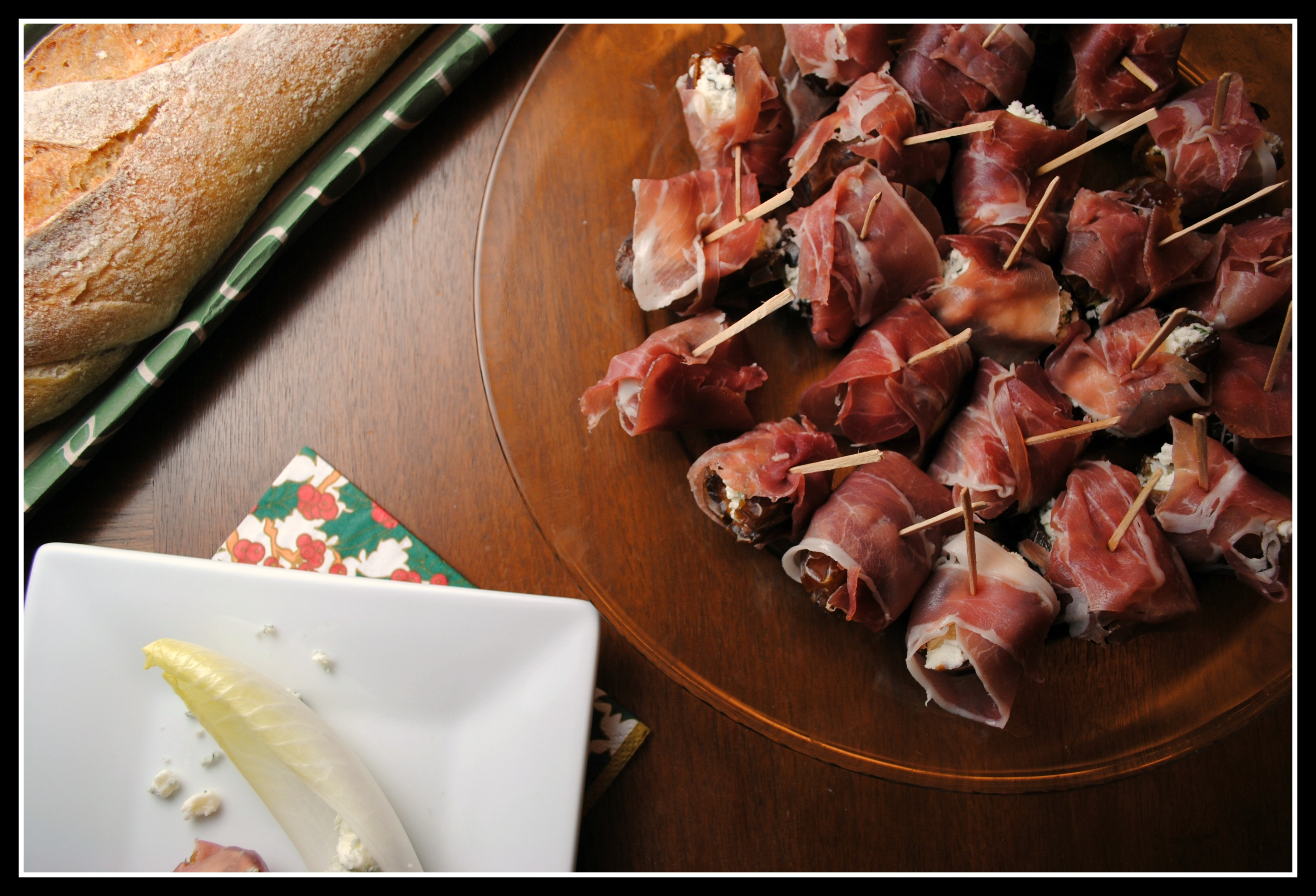 Cheese Stuffed Dates With Prosciutto