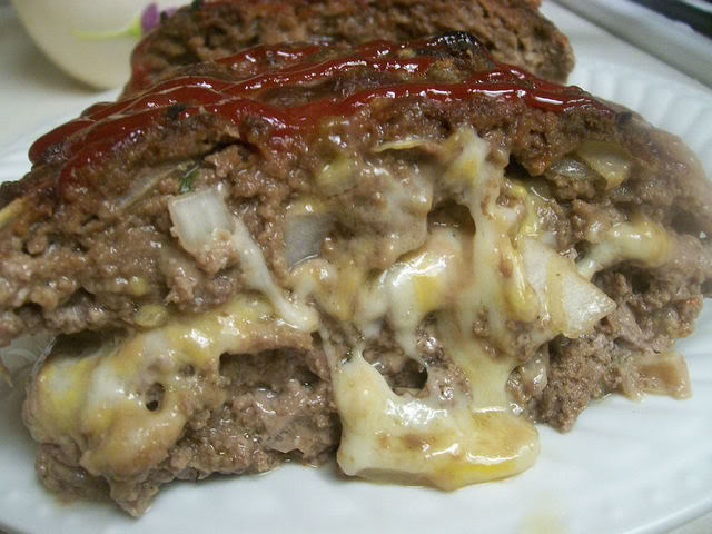Cheese Stuffed Meatloaf to Die For