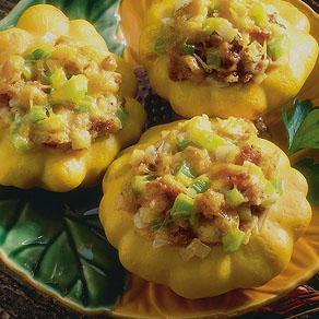 Cheese-Stuffed Pattypans