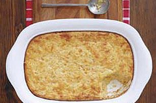 Cheesy Spaghetti and Corn Bake